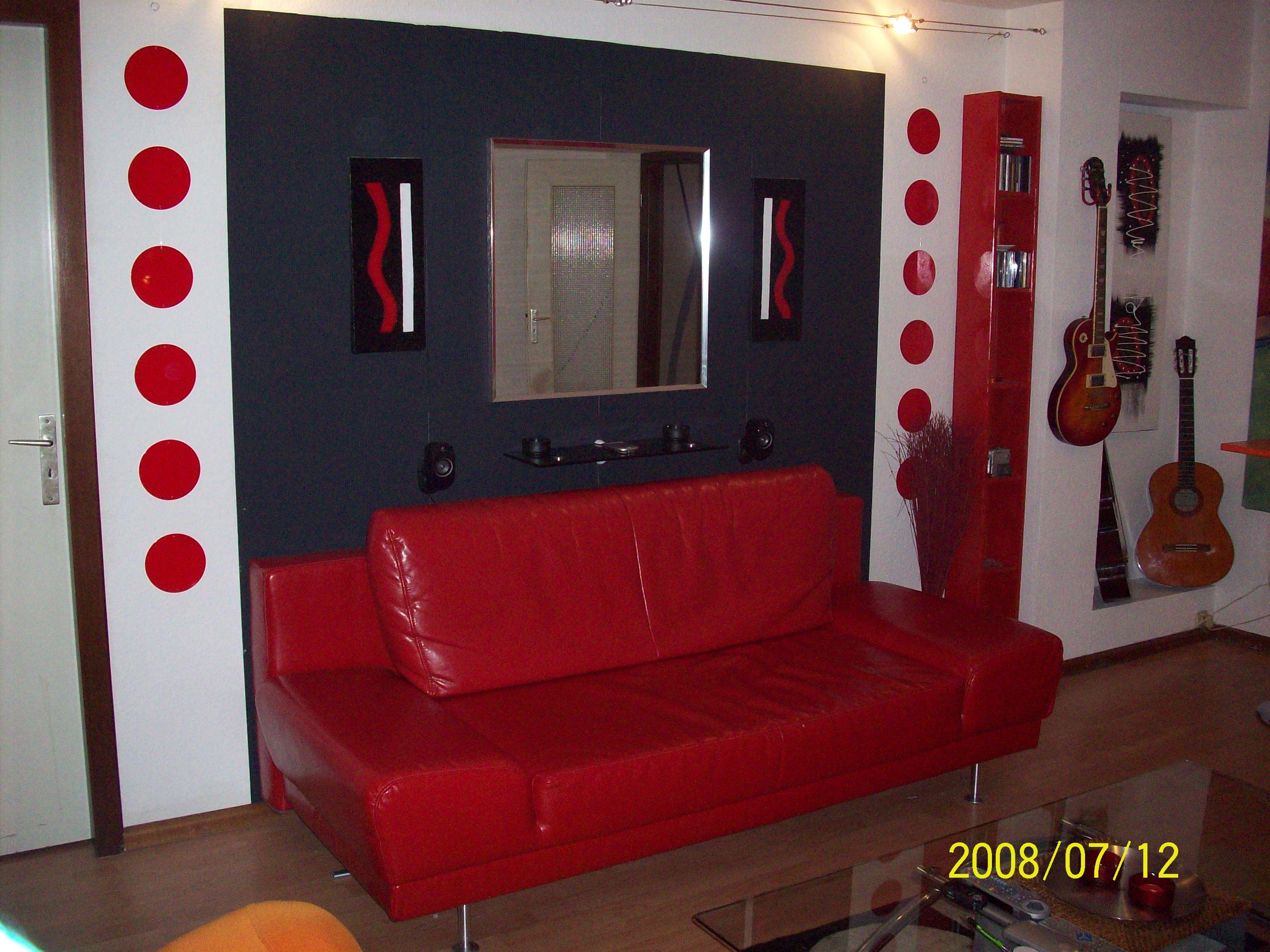 déco appartement rouge et noir